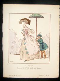 Gazette du Bon Ton by Dresa 1913 Art Deco Pochoir. Isabelle